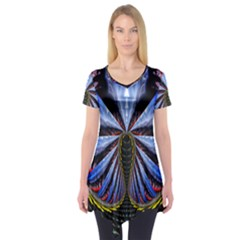 Illustration Robot Wave Short Sleeve Tunic