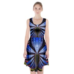 Illustration Robot Wave Racerback Midi Dress