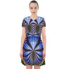Illustration Robot Wave Adorable In Chiffon Dress
