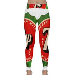 Fresh Up With  7 Up Bottle Cap Tin Metal Classic Yoga Leggings