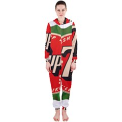 Fresh Up With  7 Up Bottle Cap Tin Metal Hooded Jumpsuit (ladies)