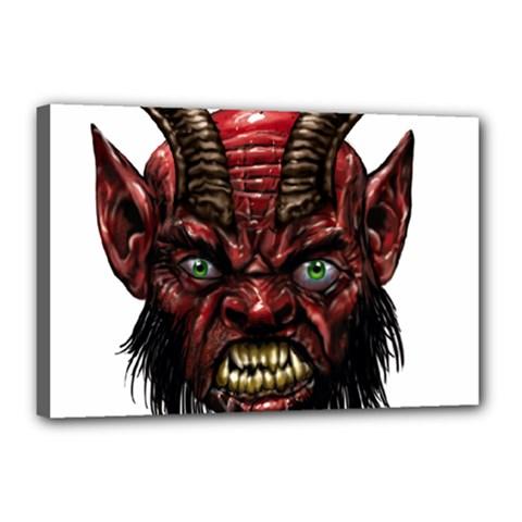 Krampus Devil Face Canvas 18  X 12