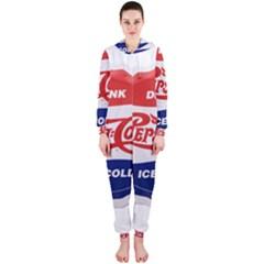 Pepsi Cola Bottle Cap Style Metal Hooded Jumpsuit (ladies)