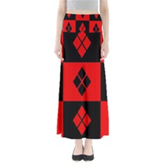 Harley Quinn Logo Pattern Full Length Maxi Skirt