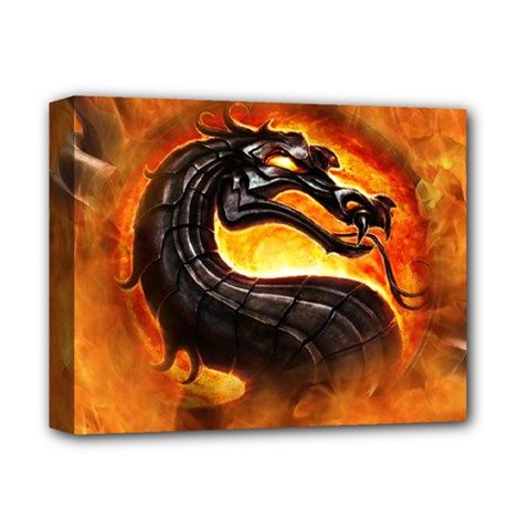 Dragon And Fire Deluxe Canvas 14  X 11