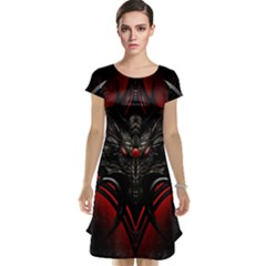 Black Dragon Grunge Cap Sleeve Nightdress
