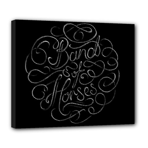 Band Of Horses Deluxe Canvas 24  X 20