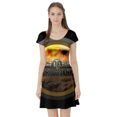 World Of Tanks Wot Short Sleeve Skater Dress
