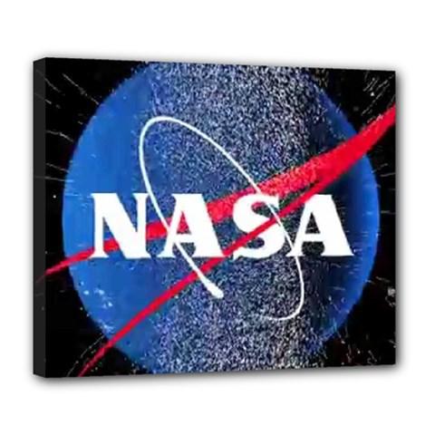 Nasa Logo Deluxe Canvas 24  X 20
