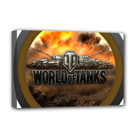 World Of Tanks Wot Deluxe Canvas 18  X 12