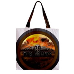 World Of Tanks Wot Zipper Grocery Tote Bag