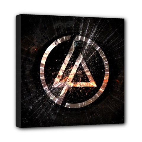 Linkin Park Logo Band Rock Mini Canvas 8  X 8