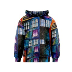 Dr Who Tardis Painting Kids  Pullover Hoodie
