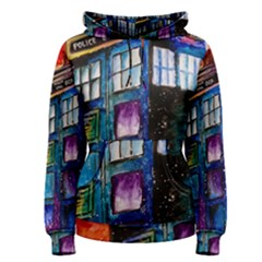 Dr Who Tardis Painting Women s Pullover Hoodie