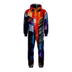 Dr Who Tardis Painting Hooded Jumpsuit (kids)
