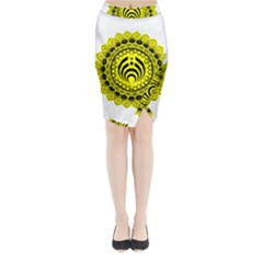 Bassnectar Sunflower Midi Wrap Pencil Skirt