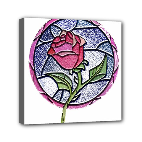 Beauty And The Beast Rose Mini Canvas 6  X 6