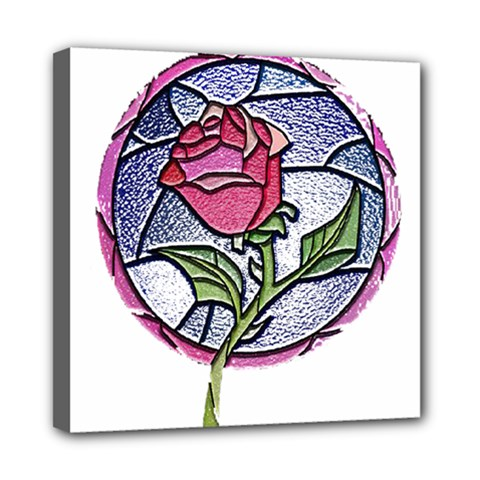 Beauty And The Beast Rose Mini Canvas 8  X 8