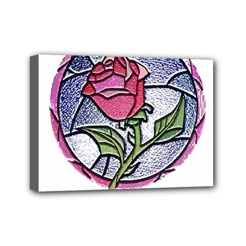 Beauty And The Beast Rose Mini Canvas 7  X 5