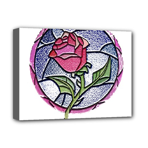 Beauty And The Beast Rose Deluxe Canvas 16  X 12
