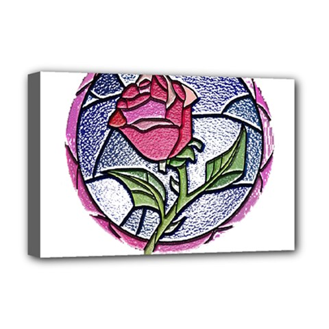 Beauty And The Beast Rose Deluxe Canvas 18  X 12