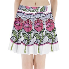 Beauty And The Beast Rose Pleated Mini Skirt