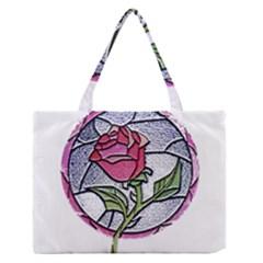Beauty And The Beast Rose Zipper Medium Tote Bag