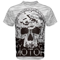 Black & White Stripes Motor Men s Cotton Tee