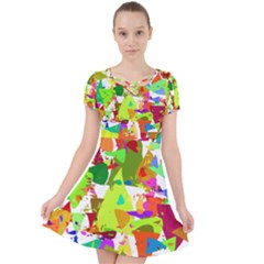 Colorful Shapes On A White Background                          Caught In A Web Dress