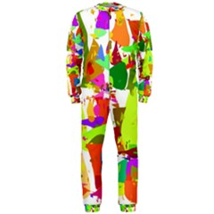 Colorful Shapes On A White Background                             Onepiece Jumpsuit (men)
