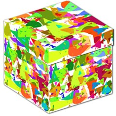 Colorful Shapes On A White Background                             Storage Stool