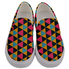 Triangles Pattern                      Men s Canvas Slip Ons