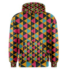 Triangles Pattern                           Men s Zipper Hoodie