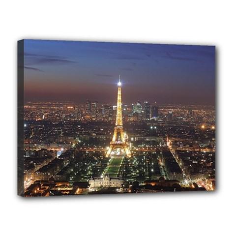 Paris At Night Canvas 16  X 12
