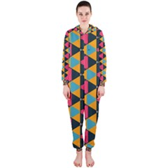 Triangles Pattern                           Hooded Jumpsuit (ladies)