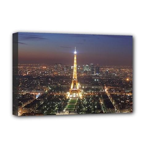 Paris At Night Deluxe Canvas 18  X 12