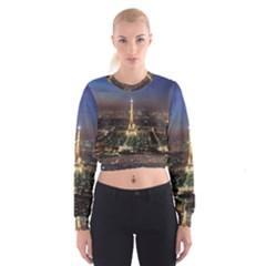 Paris At Night Cropped Sweatshirt