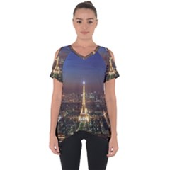 Paris At Night Cut Out Side Drop Tee
