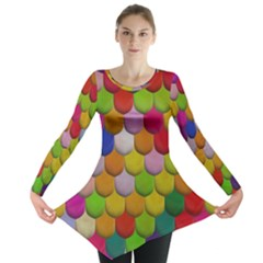 Colorful Tiles Pattern                           Long Sleeve Tunic