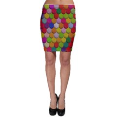 Colorful Tiles Pattern                           Bodycon Skirt