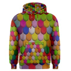 Colorful Tiles Pattern                           Men s Pullover Hoodie