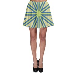 Ccvst0098 Yellow Orange Green Blue Rays Skater Skirt
