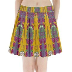 Rainy Day To Cherish  In The Eyes Of The Beholder Pleated Mini Skirt