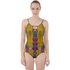 Rainy Day To Cherish  In The Eyes Of The Beholder Cut Out Top Tankini Set