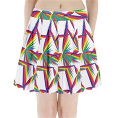 Cvar0033 Abstract Butterfly Shower Pleated Mini Skirt