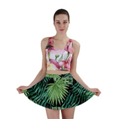 Tropical Pattern Mini Skirt