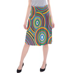 Cvar0035 Hypno Rings Retro Midi Beach Skirt