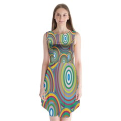 Cvar0035 Hypno Rings Retro Sleeveless Chiffon Dress