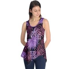 Tropical Pattern Sleeveless Tunic