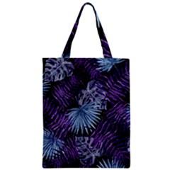 Tropical Pattern Zipper Classic Tote Bag